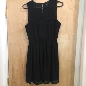 Forever 21 little black dress with lace top